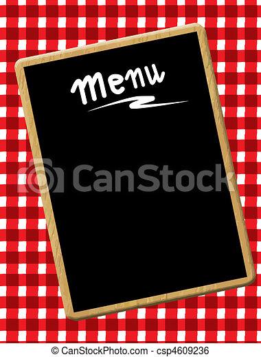 menu, tablica - csp4609236