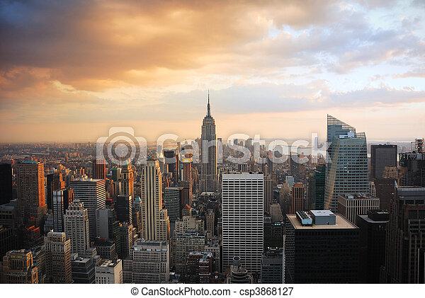 miasto nowego yorku - csp3868127