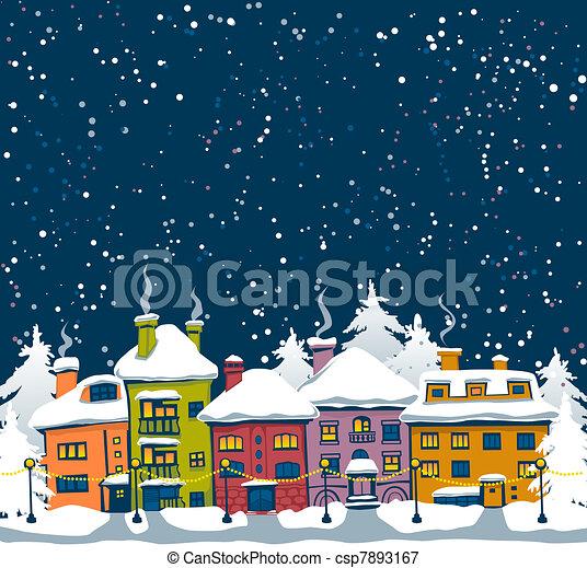 miasto, zima - csp7893167