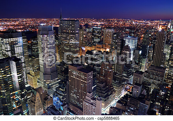 miejski skyline, antena, prospekt miasta - csp5888465