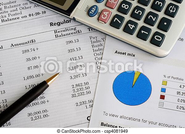 miesięcznik, rachunek, czek, deklaracja - csp4081949