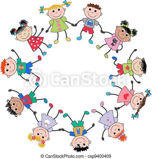 mieszany, dzieci, etniczny - csp9400409