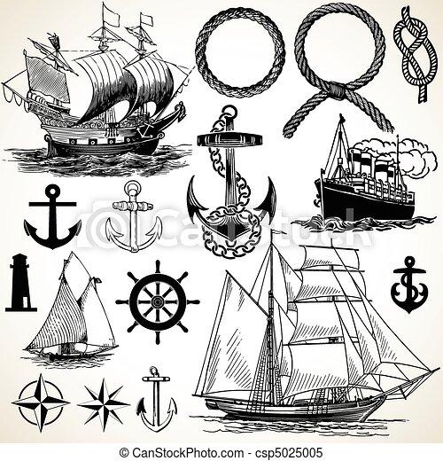 morski, ikona, komplet - csp5025005