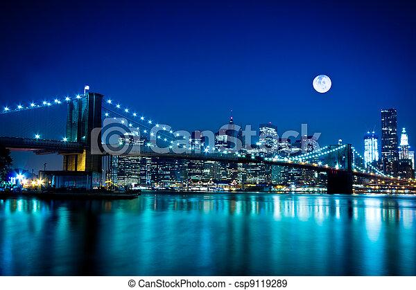 most, brooklyn, miasto, york, nowy - csp9119289