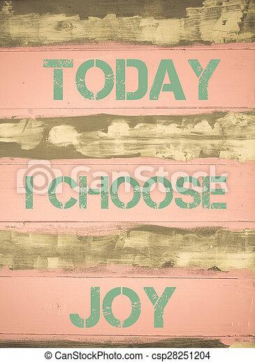 motivational, radość, dzisiaj, typować, zacytować - csp28251204