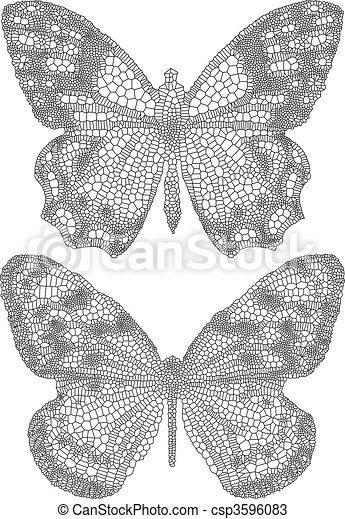 motyle, delikatny, struktura - csp3596083