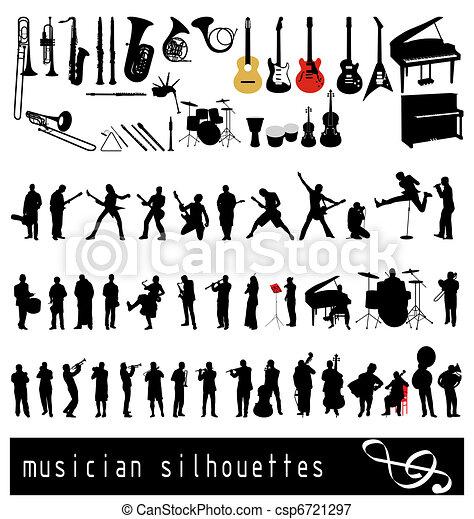 musican, sylwetka - csp6721297