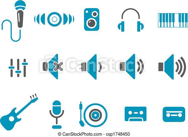 muzyka, ikona, komplet - csp1748450