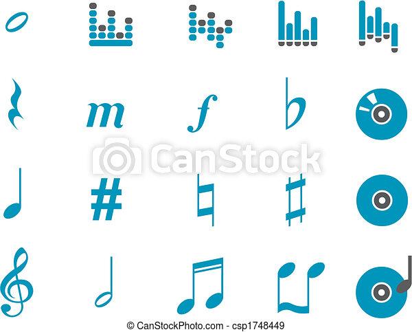 muzyka, ikona, komplet - csp1748449