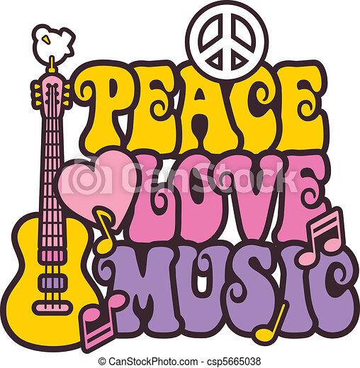 muzyka, kolor, pokój, miłość, jasny - csp5665038