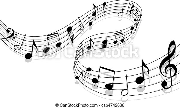 muzyka, tło - csp4742636