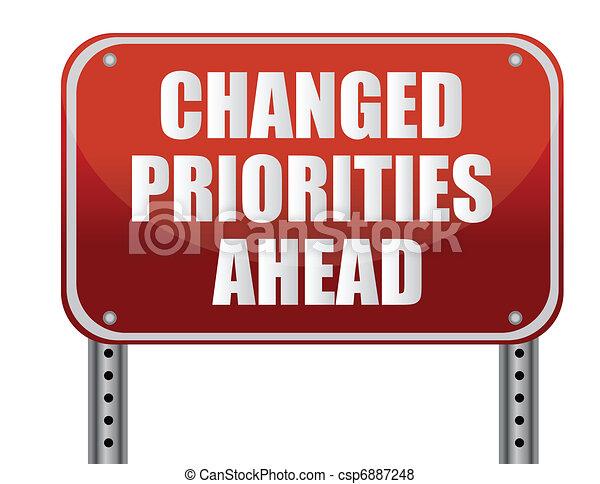 na przodzie, changed, priorities - csp6887248