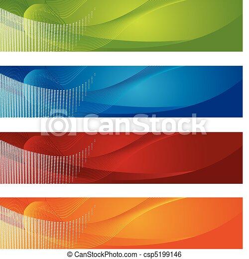 nachylenie, chorągwie, halftone - csp5199146