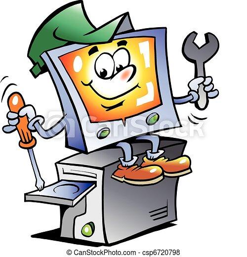 naprawa, komputer, maskotka - csp6720798