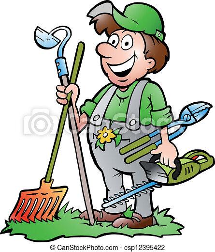 narzędzia, reputacja, ogrodnik - csp12395422
