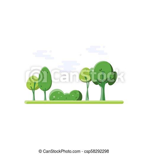 nature., park., rysunek - csp58292298