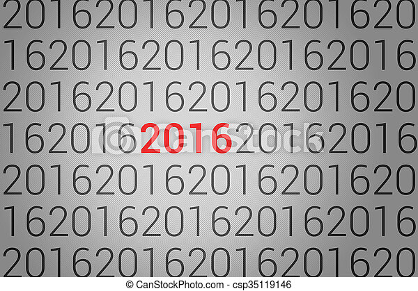 nowy, 2016, rok - csp35119146