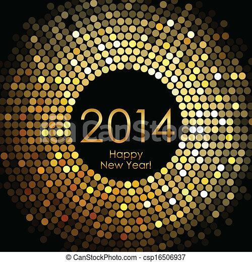 nowy, szczęśliwy, 2014, rok - csp16506937