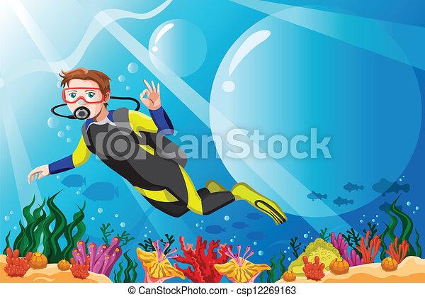 nurek, scuba, ocean - csp12269163