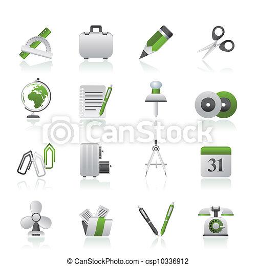 obiekty, handlowe biuro, ikony - csp10336912