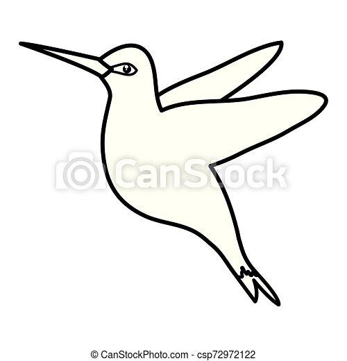 odrobina, wektor, kwiaty, ilustracja, hummingbird - csp72972122