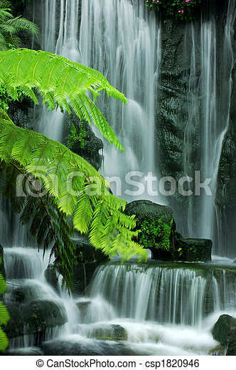 ogród, wodospady - csp1820946