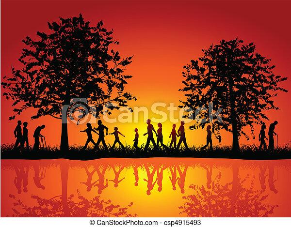 okolica, pieszy, ludzie - csp4915493