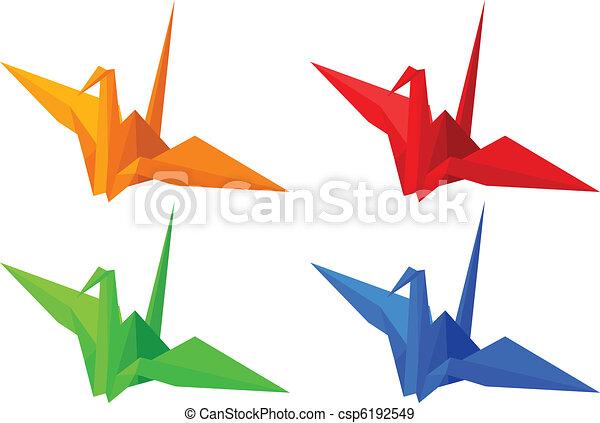 origami, ptaszki - csp6192549