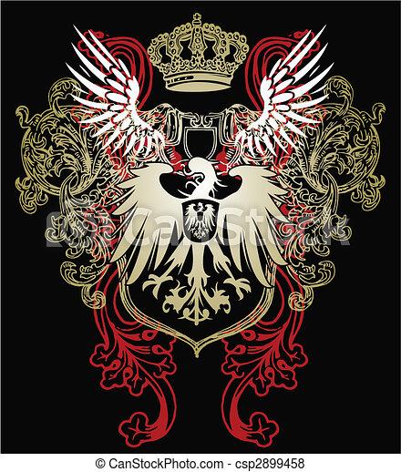 orzeł, heraldyczny, emblemat - csp2899458