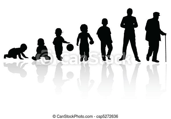 osoba, sylwetka - csp5272636