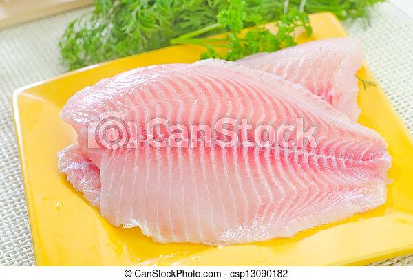 otrzyjcie skórę rybę - csp13090182