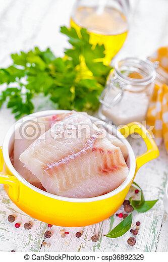 otrzyjcie skórę rybę - csp36892329