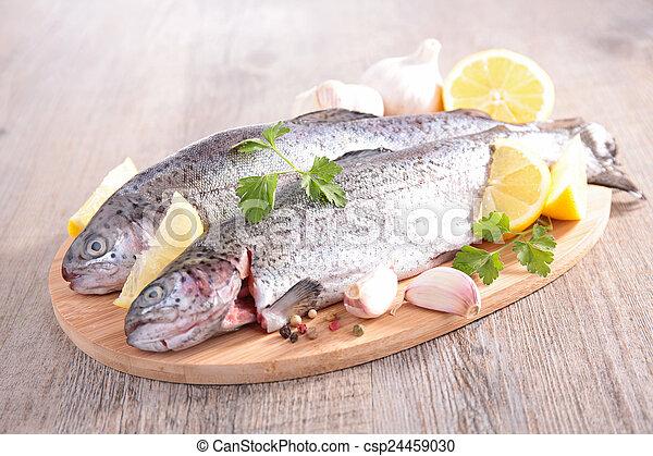 otrzyjcie skórę rybę - csp24459030