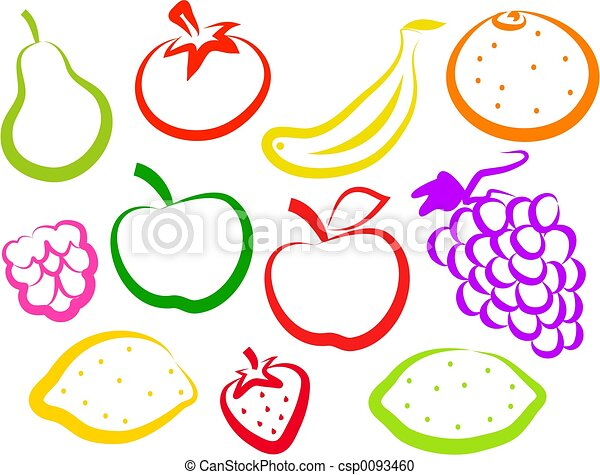 owoc, ikony - csp0093460