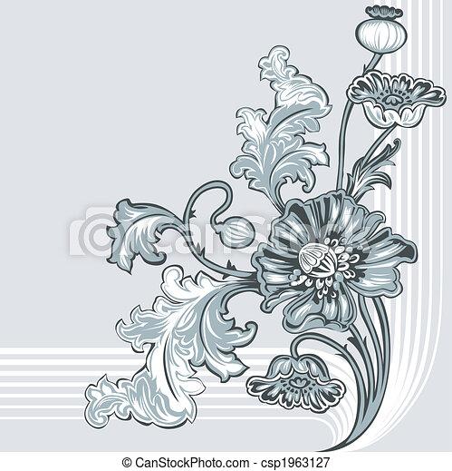 ozdoba, mak, kwiat - csp1963127