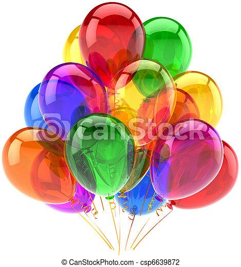 ozdoba, partia, urodziny, balony - csp6639872