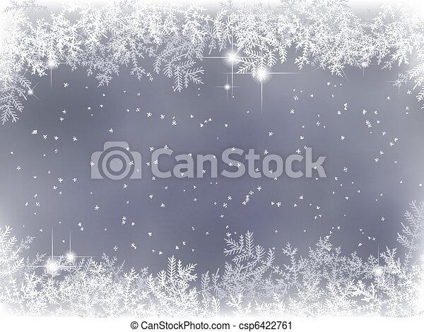 ozdoba, zima, tło, boże narodzenie - csp6422761