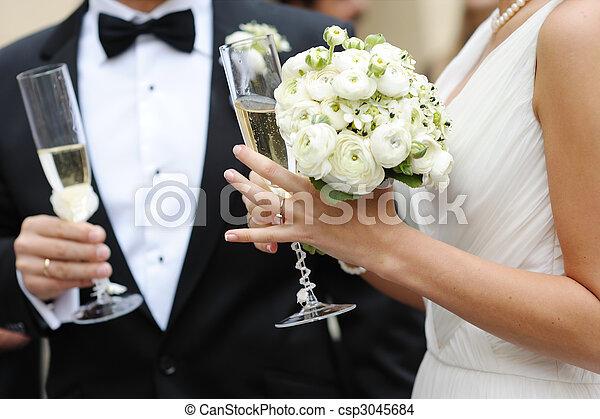 panna młoda, szambelan królewski, szampan, dzierżawa okulary - csp3045684