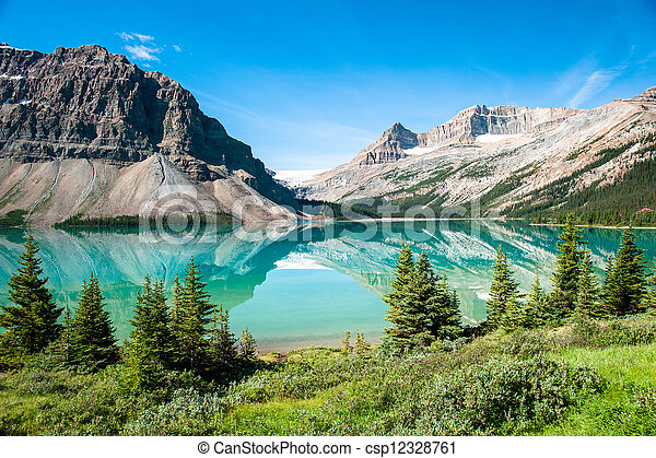 panorama, jezioro, łuk - csp12328761