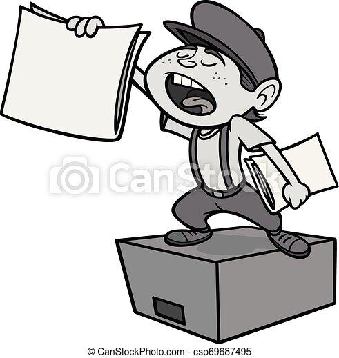 paperboy, ilustracja - csp69687495