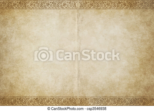 papier, stary, pergamin - csp3546938