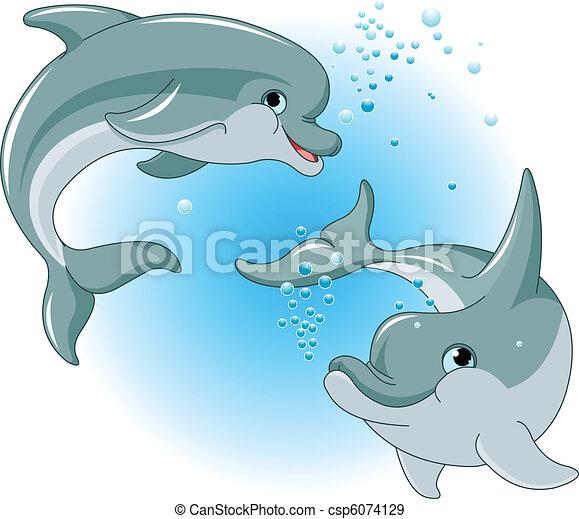 para, delfiny - csp6074129