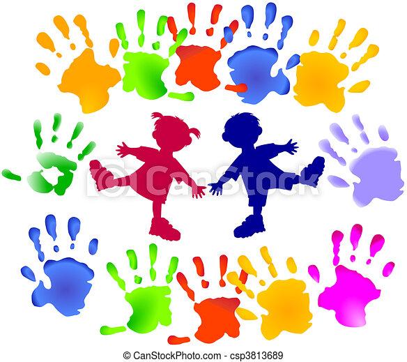 partia, młodzi dzieci - csp3813689