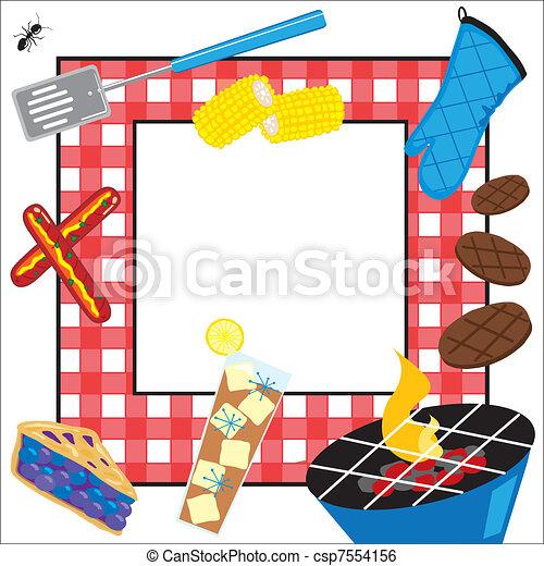 partia, piknik, lato, zaproszenie - csp7554156