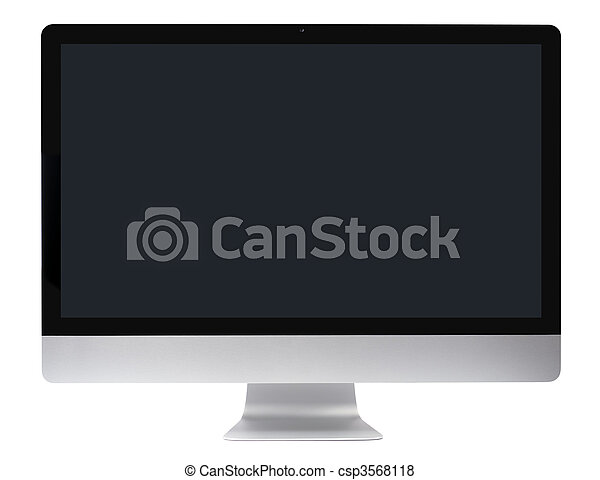 pc komputer, gładki, hydromonitor - csp3568118