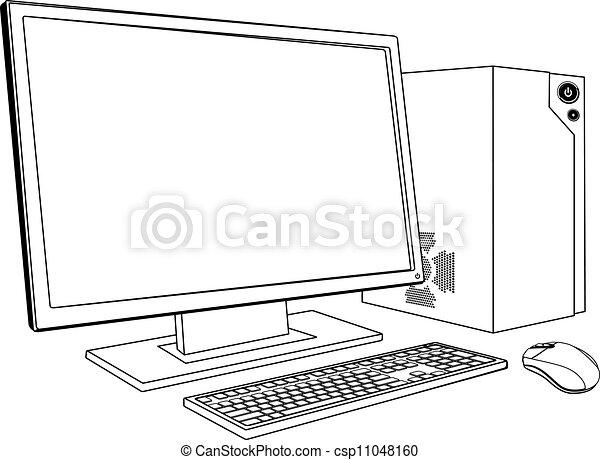 pc, stacja robocza, komputer, desktop - csp11048160