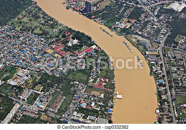 phraya, rzeka, chao - csp0332382