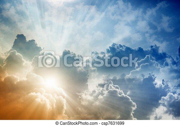 piękny, niebo - csp7631699