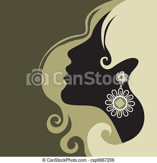 piękny, włosy, dziewczyna - csp6667206