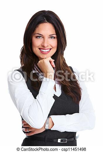 piękny, woman., młody, handlowy - csp11451498